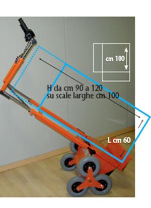 Carrello saliscale Senior SSN per trasporto mobili - CEM Elevatori
