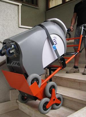 Carrello Saliscale Elettrico Super Rd 120 Ssn Per Trasporto Caldaie