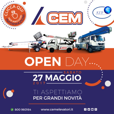 Porte Aperte da CEM con l'Open Day del 27 Maggio