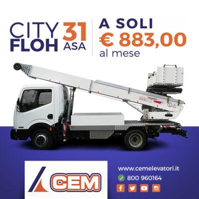 Super Promo CEM per l'Elevatore CITY Floh ASA 31 WHM