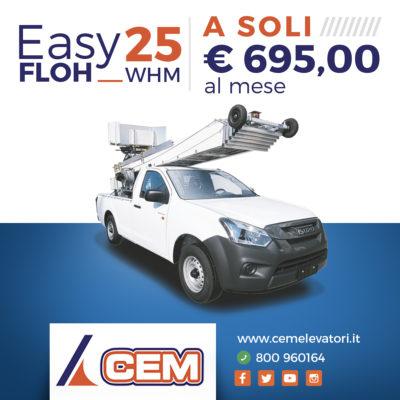 Super Promo CEM per l'Elevatore Scarrabile Easy Floh 25 WHM