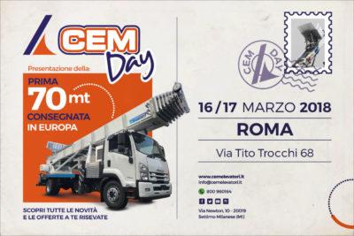 Due giorni per scoprire la nuova Scala Aerea 70 Metri - Cem Day Roma 16 e 17 Marzo