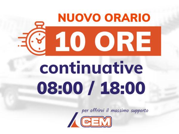In CEM cambiano gli orari di lavoro: 10 ore continuative, dalle 08:00 alle 18:00