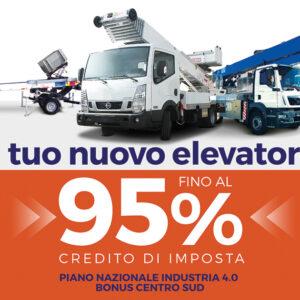 Il tuo nuovo Elevatore fino al 95% con il Credito di Imposta - Piano Industria 4.0 (Bonus Centro Sud)